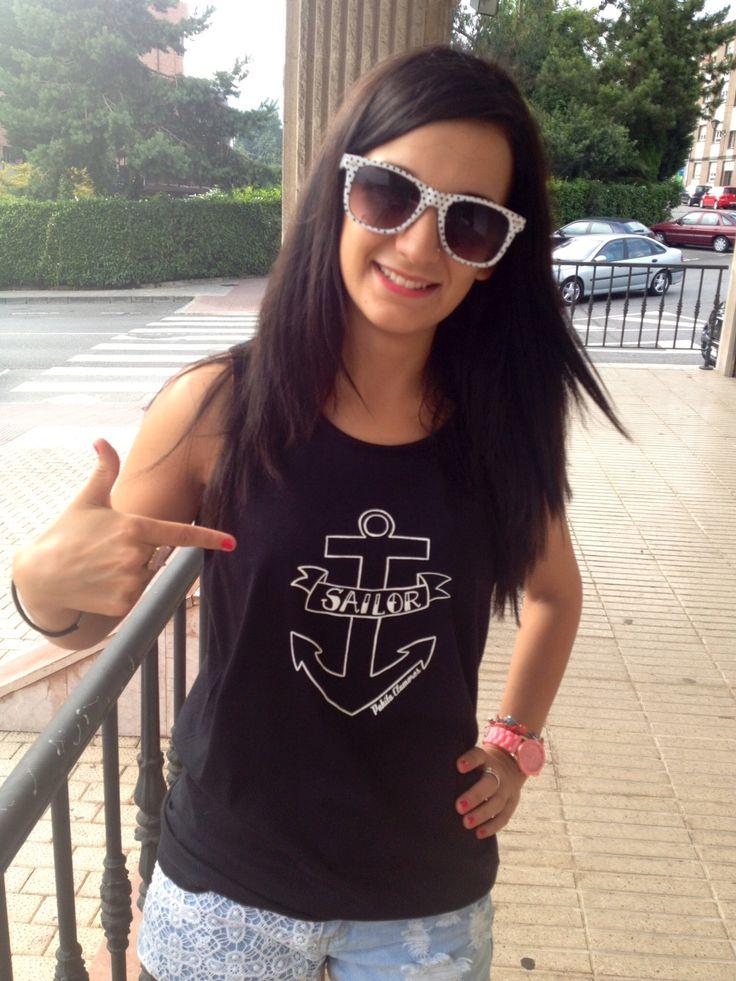 """""""Sailor""""  camisetas unisex, disponibles en www.corazonadas-shop.com"""
