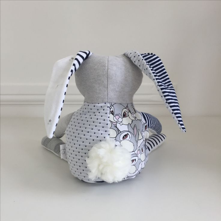 Memory bunny soft toy keepsake made from recycled preloved ...
