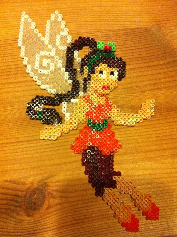 Hama perler beads Tinkebell Klokkeblomst  Fawn Faunia