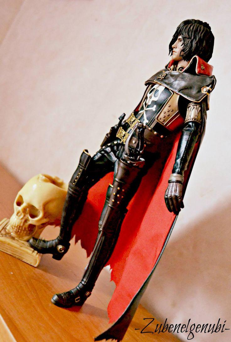 Captain Harlock and skull