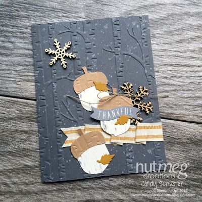 Wintry mixed with Thankful thoughts by Cindy Schuster