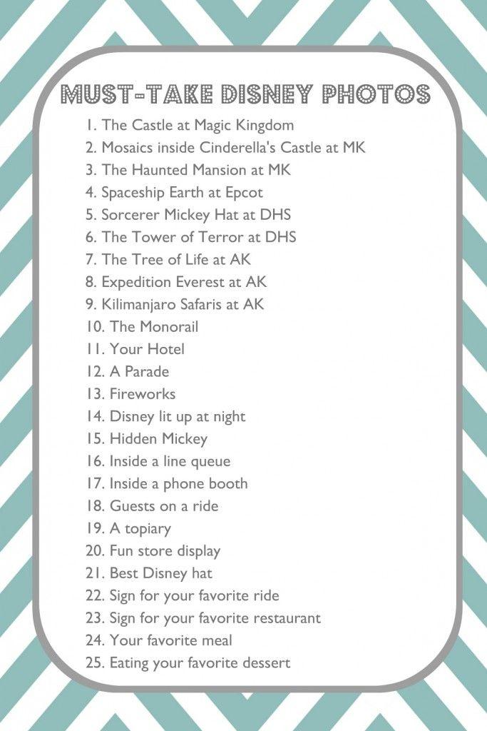 Must-take photos at Disney. Next time