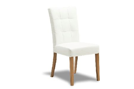 Flair Back Dining Chair - White / Vaucluse