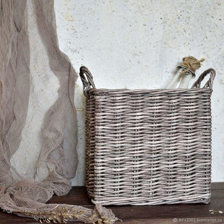"""Плетёный короб с ручками """"Rustic box"""", деревенский стиль – купить в интернет-магазине на Ярмарке Мастеров с доставкой"""