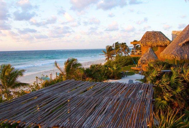 Tulum beach hotel cabana