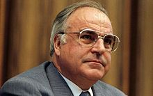 Helmut Kohl  born 3 April 1930) is a German conservative politician and statesman. He was Chancellor of Germany from 1982–98 (of West Germany between 1982 and 1990 and of the reunited Germany between 1990–98) and the chairman of the Christian Democratic Union (CDU) from 1973–98. His 16-year tenure was the longest of any German chancellor since Otto von Bismarck and oversaw the end of the Cold War and the German reunification.