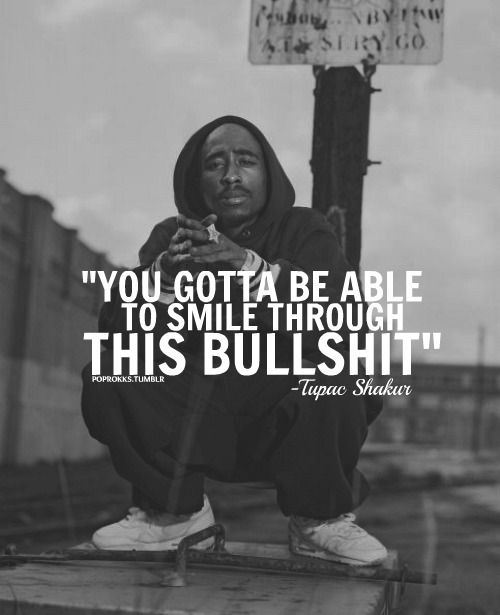 Tupac Smile Quote: Black And White Quotes