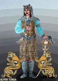 """Alp Er Tonga  Tonga, Kaşgarlı Mahmut'a göre leopar veya kaplan cinsinden bir hayvandır. Orta Asya kaplanları Türklerin Bars dedikleri, Pars cinsinden hayvanlardır. Hun Pazırık kurganında çok rastlanan bir figürdür. Roux'a göre, ismi genelde """"kahraman erkek kaplan"""" şeklinde algılanmaktadır, ama ona göre Tunga """"Sibirya panteri"""" dir. Budist metinlerde """"uzun saçlı tonga"""" tabirlerine rastlanması, uzun saçın Alplik simgesi olmasını anımsatır.Uygur döneminde, Alp Er Tonga'nın ve başka Türk…"""