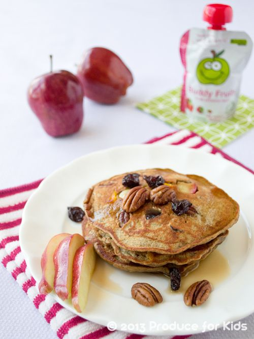 Nutty Apple Pancakes - I make these ahead and just heat them up the next morning