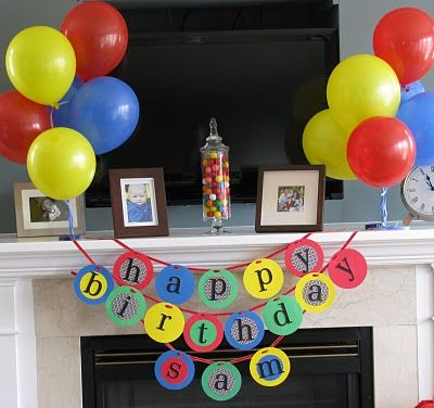 Great birthday party idea for a kid who loves balls.