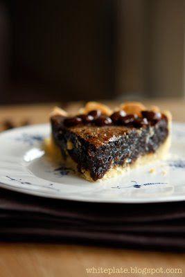 Tarta Kukułka. Coffee and chocolate tart. – White Plate