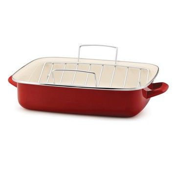 Oven Roaster With Rack Red, $43, now featured on Fab.