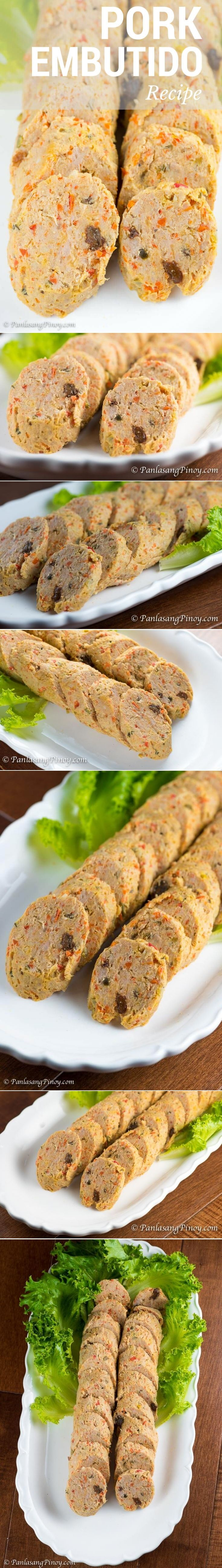 Pork Embutido (Steamed Filipino Meatloaf) - Panlasang Pinoy