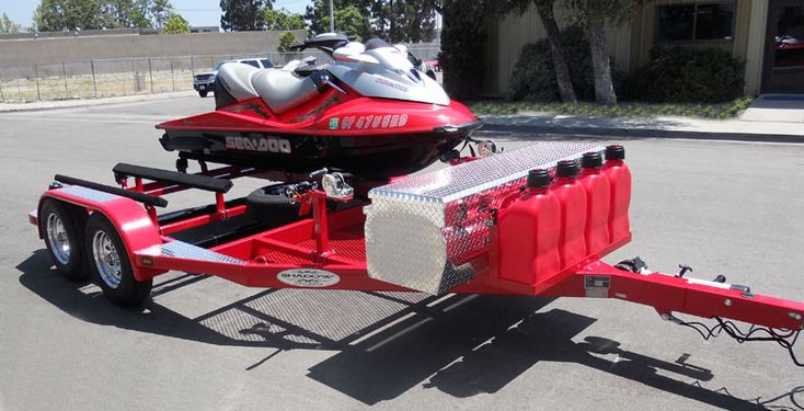 Custom Pwc Trailer My Jet Skis Jet Ski Fishing Jet