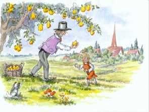 Bild aus dem Bilderbuch Herr von Ribbeck ... herausgegeben von Janko von Ribbeck - hier bestellen