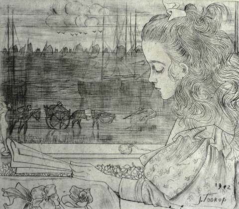 The Artist's Daughter (Charley) by the Window - JAN TOOROP ...