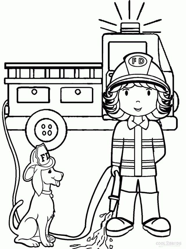 23 Great Picture Of Firefighter Coloring Pages Birijus Com Truck Coloring Pages Kindergarten Coloring Pages Preschool Coloring Pages
