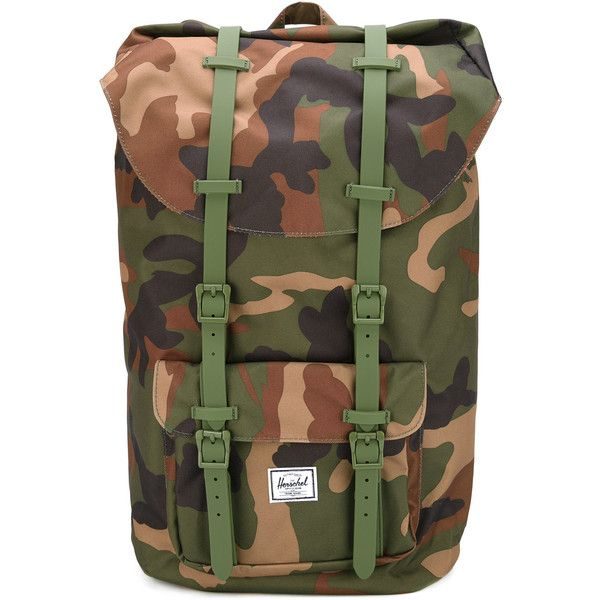 Herschel Supply Co. camouflage backpack (6.210 RUB) ❤ liked on Polyvore featuring bags, backpacks, green, camo backpack, camouflage bag, camo daypack, knapsack bag and herschel supply co backpack