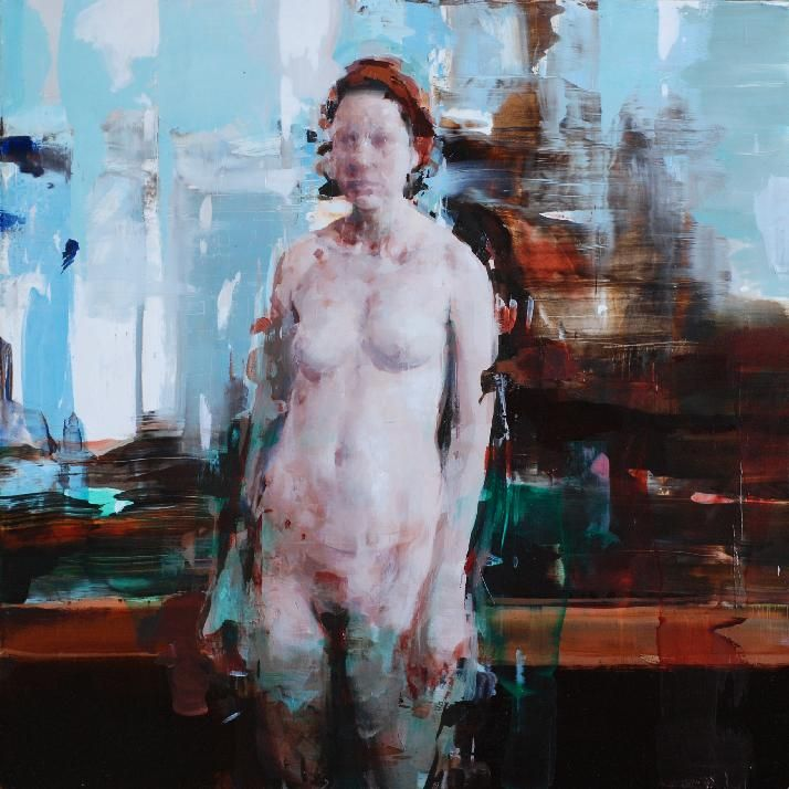 Alex Kanevsky  R.W. 24″ x 24″, oil on wood, 2011