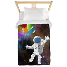 Astronaut with Balloons Twin Duvet Cover