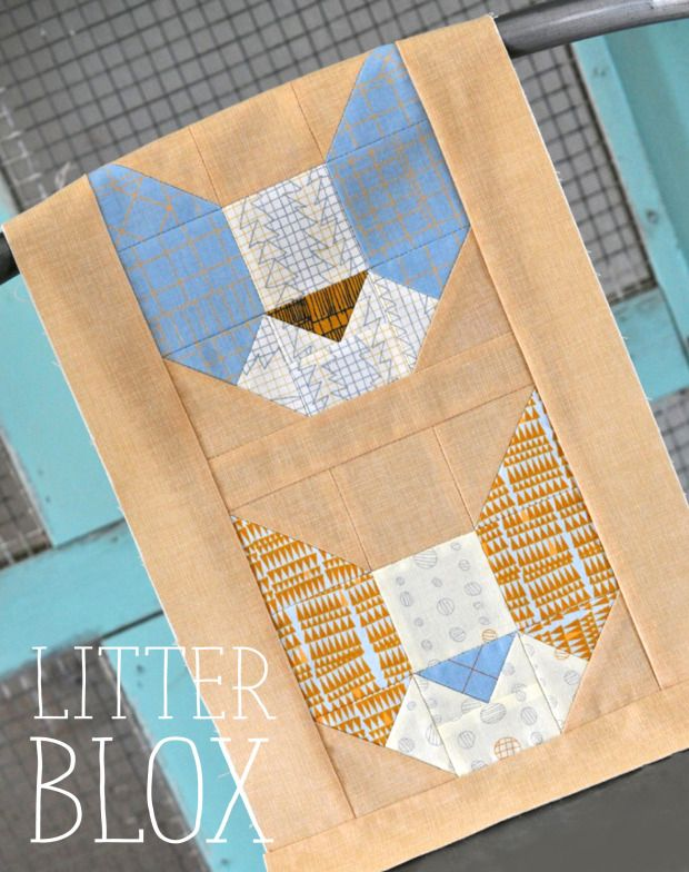 Litter Blox {a free quilt block pattern}   lillyella stitchery