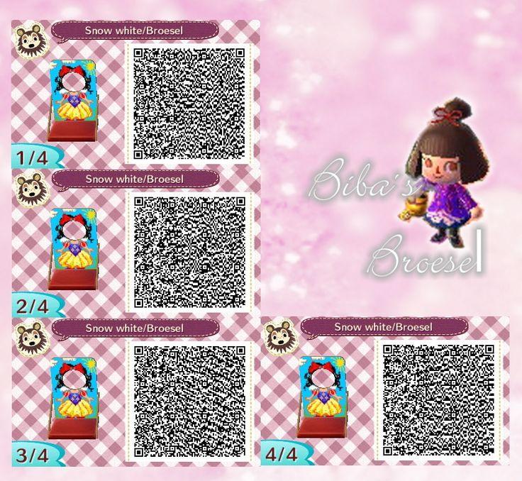 Snow white - Schneewittchen - - Fotowand - Bilderwand - faceboard - photo stand - Animal Crossing New Leaf - ACNL - QR - Broesel