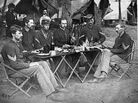 """While on the march, if there wasn't enough food, soldiers often did what was called """"foraging,"""" whereby they would spread out in teams and scour the land in search of food; Union soldiers while in enemy territory most often practiced this. Soldiers reported bringing back to camp: chickens, hogs, cattle, vegetables, fruits and all kinds of treats taken from local farms and plantations."""