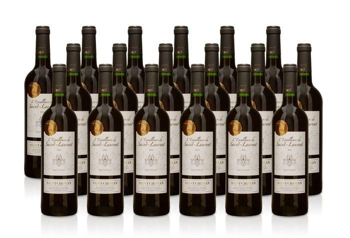 2015 Cuvée Excellence de Saint-Laurent Saint-Chinian AOC - 18 flessen 075 l  18 x 075 l flessen 2014s Cuvée Excellence de Saint-Laurent Saint-ChinianBekroond met de medaille D'Argent 2016Concours des Grands Vins de France à MaconDruif typen:40% Carignan 30% Syrah 30% Grenache.Alc .: 13% bevat sulfietenBeveiligd met een kurkEen zeer delicate rode wijn met elegante boeket van kers zwarte bes steenvruchten en blackberry.Filigraan aroma's van chocolade en een verfrissende fruit gecombineerd met…