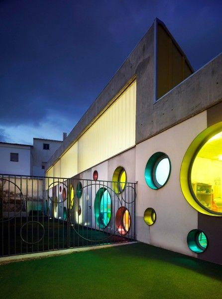 colorful school facade