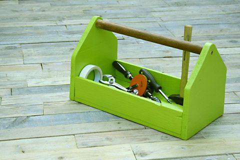 caisse outils à faire pour ranger matos de couture rapidement sur plan de travail