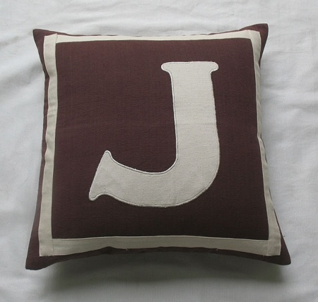 26 best monogram decor and pillows images on Pinterest Monograms, Black and white and Jonathan ...