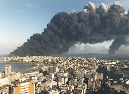 Hundimiento del Mar Egeo en 1992, A Coruña