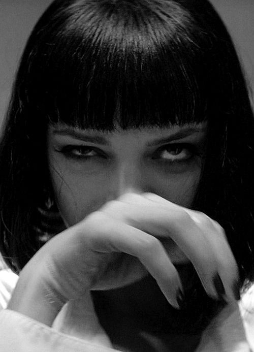 Uma Thurman as Mia Wallace in Pulp Fiction.