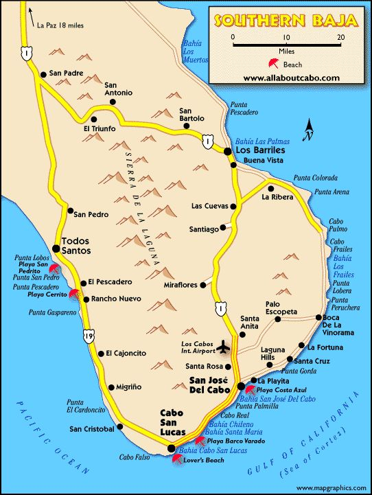 Southern Baja Map Large Mexico Feb 2017 Cabo San Lucas Mexico