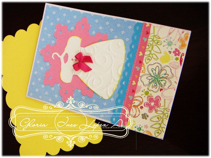 tarjeta vestido niña cumpleaños