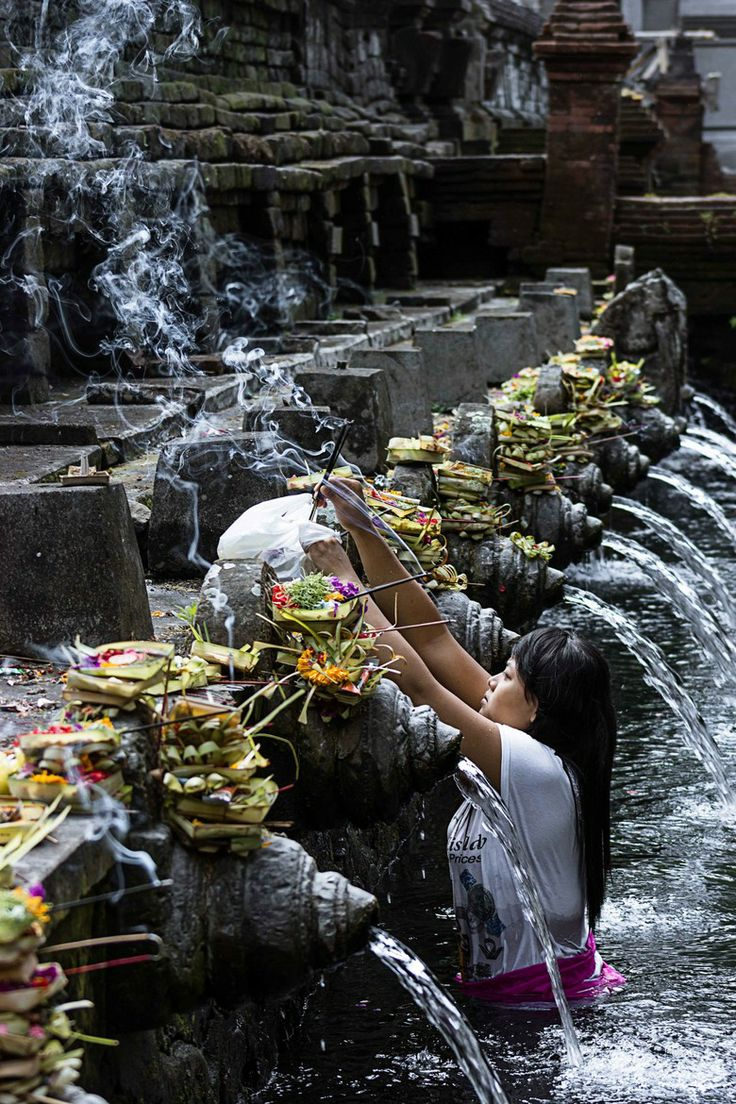 Hindu water temple in Bali