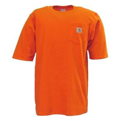 Carhartt K87 ORG Orange Workwear Pocketed T-