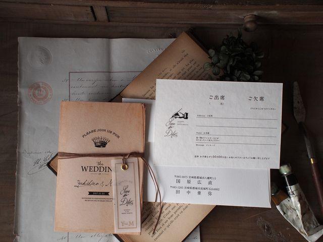 アンティーク招待状「Tag」1セット10部