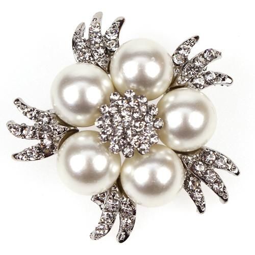 Oceana Diamante Brooch Embellishment Pearls Crystals Rhinestone Bridal Accessories Hairpiece Bouquet Chair Tieback Invitation Making Venue Styling