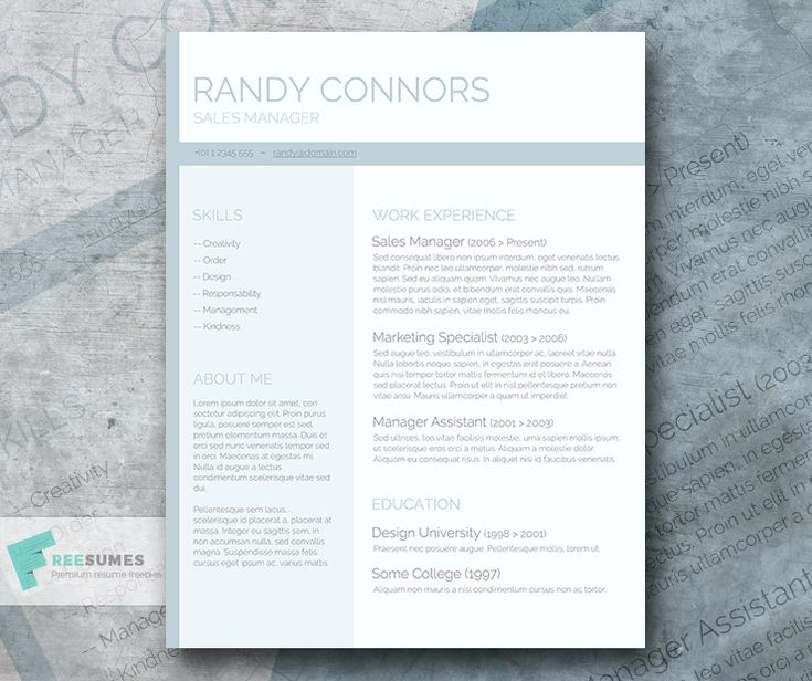 75 best Free Resume Templates For Word images on Pinterest Blush - free resume printable