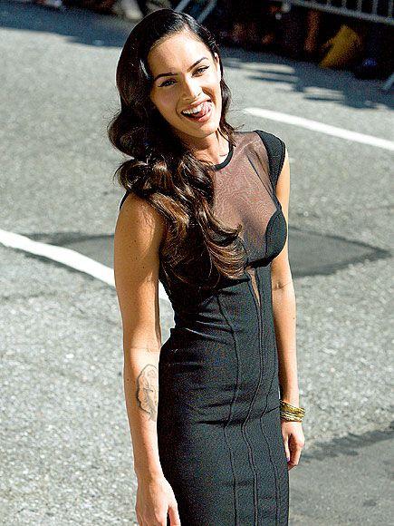 Megan Sheer Black Dress
