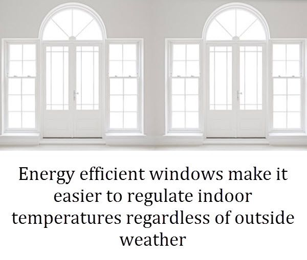 Benefit of better insulated windows
