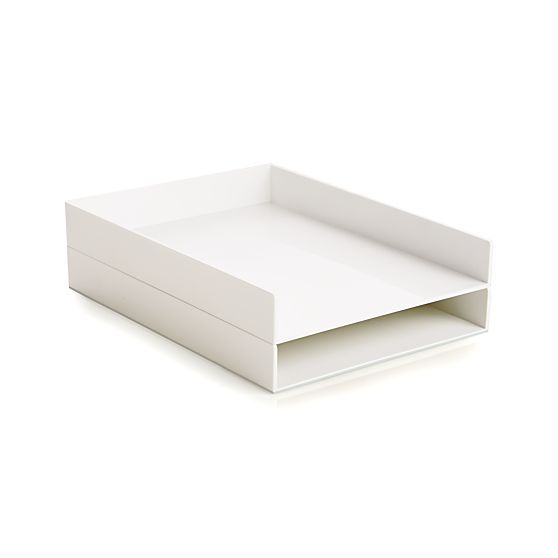 Poppin® White Letter Tray in Home Office Accessories | Crate and Barrel