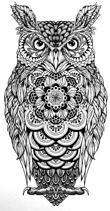 aztec owl coloring pages - photo#19