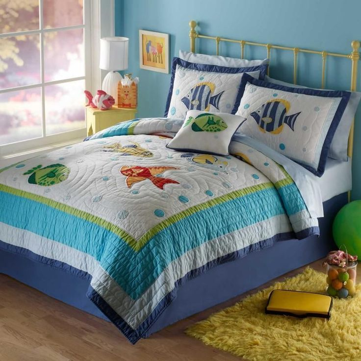 10 best kids room images on pinterest child room kid for Fish bedding twin