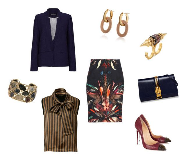 """Untitled #239"" by joshua-dnard-tyson ❤ liked on Polyvore featuring Christian Louboutin, Nicole Miller, Fendi, Kimberly McDonald, Sugarhill Boutique, Roberto Coin and Alexander McQueen"