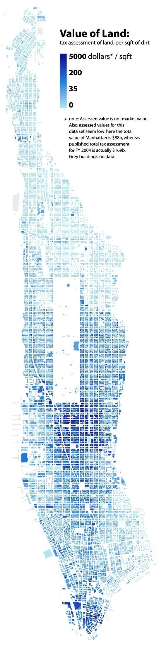 Manhattan - Radical Cartography Value of Land