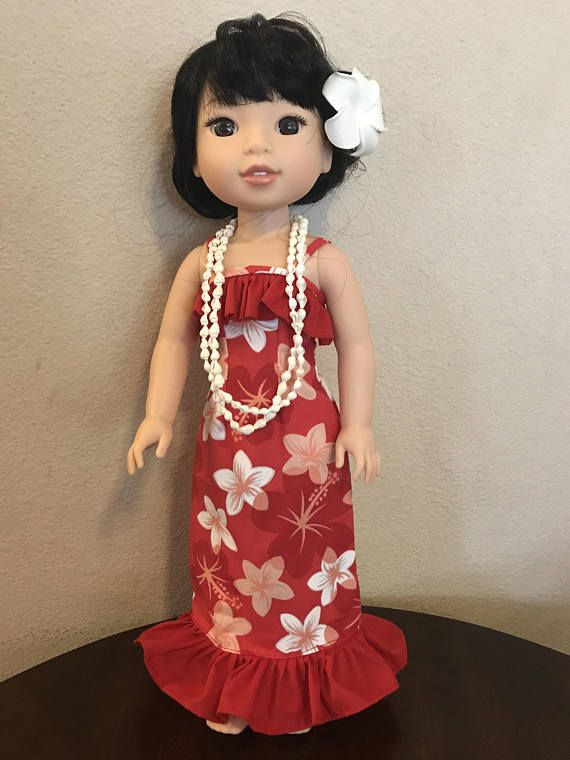 Wellie Wisher Hawaiian Luau Dress Red