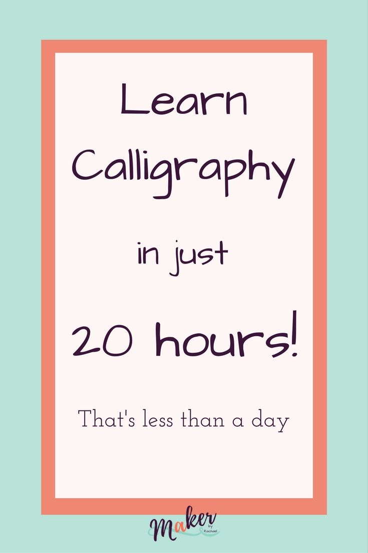Best 25 learn calligraphy ideas on pinterest Where to learn calligraphy