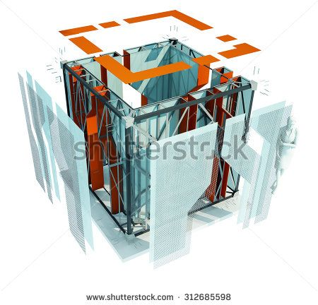 design cube 1 - stock photo